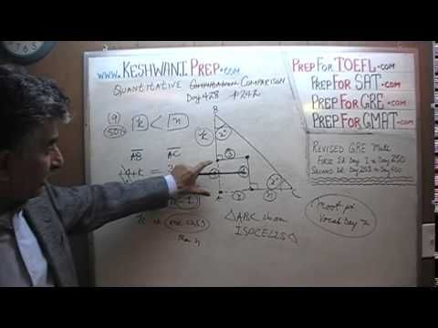 GRE Math Day 428, p242, Quantitative Comparison 9-11, Online Prep Tutor ...