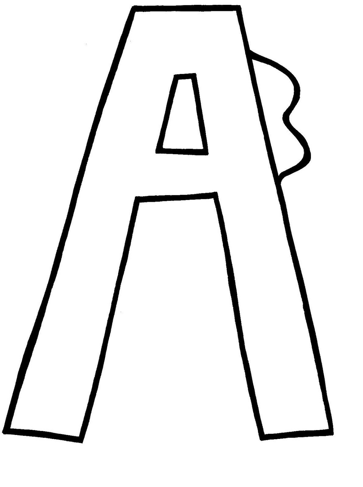 Print Out Letter Let Them Color Or Paste Colored Paper On
