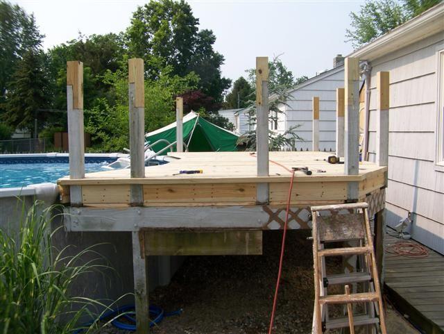 Deck Railings Around Above Ground Pools