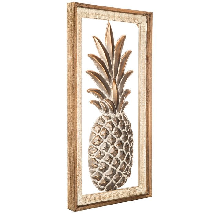 Pineapple Framed Metal Wall Decor For The Gallery Wall Metal Wall Decor Metal Walls Wall Decor Online