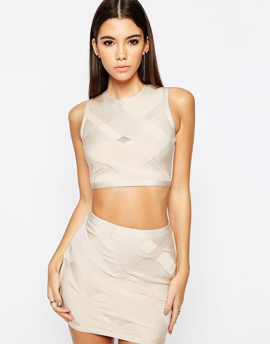 Buy it now ASOS NIGHT COORD Top In Premium Bandage With Cross
