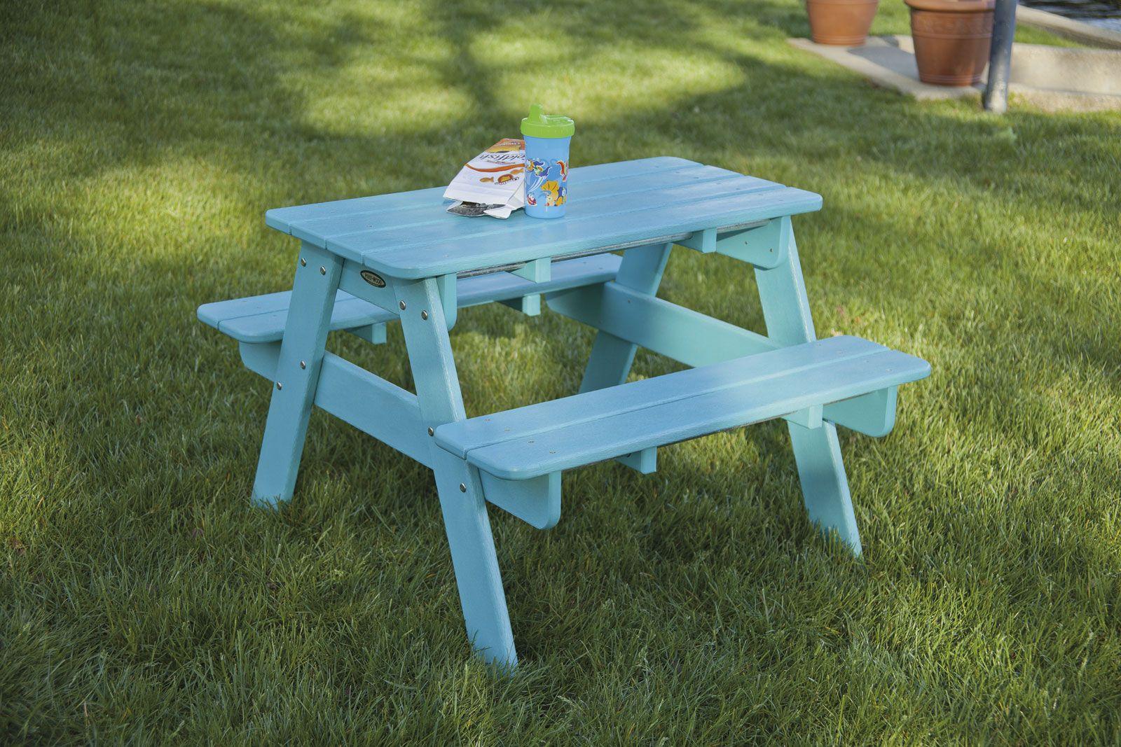 Kids Picnic Table Kids Picnic Table Blue Coastal Design 400 x 300