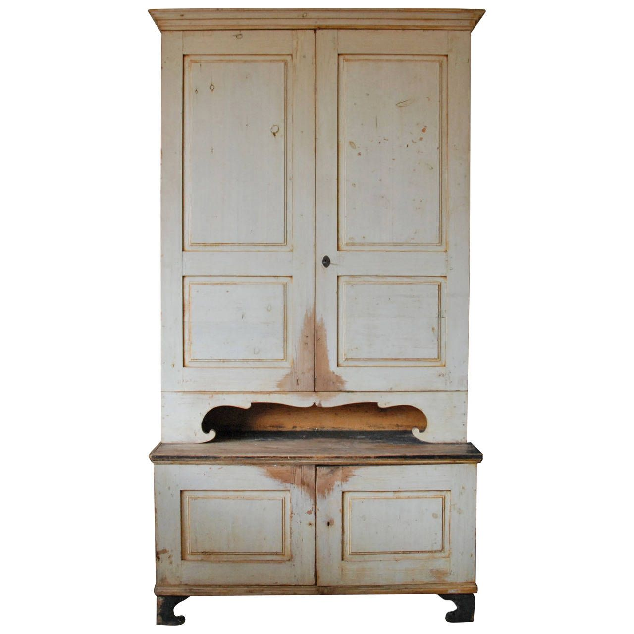 19th Century Tall Swedish Painted Cupboard | Painted cupboards ...