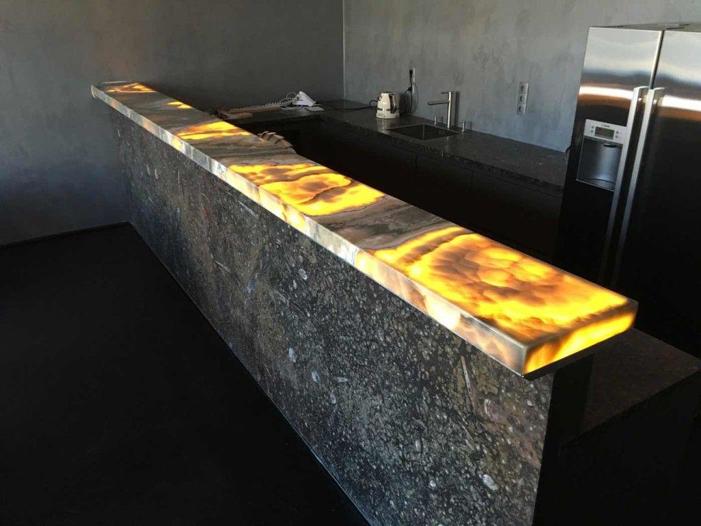 beleuchtete Onyx-Bar | Stein und Licht | Pinterest | Arbeitsplatte ...
