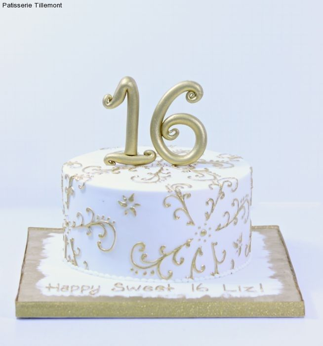 Super Image Result For Simple Sweet 16 Cakes Gold Pink And White With Funny Birthday Cards Online Kookostrdamsfinfo