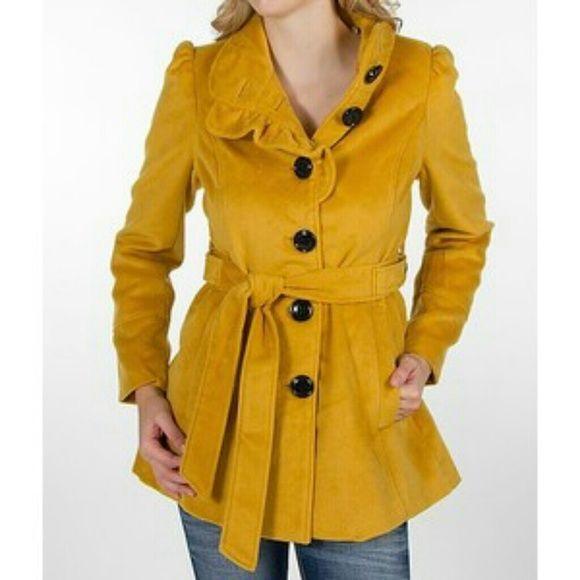 gama muy codiciada de elegante y elegante gran variedad de Steve Madden Jackets & Coats - One Of A Kind!! Yellow Mustard ...