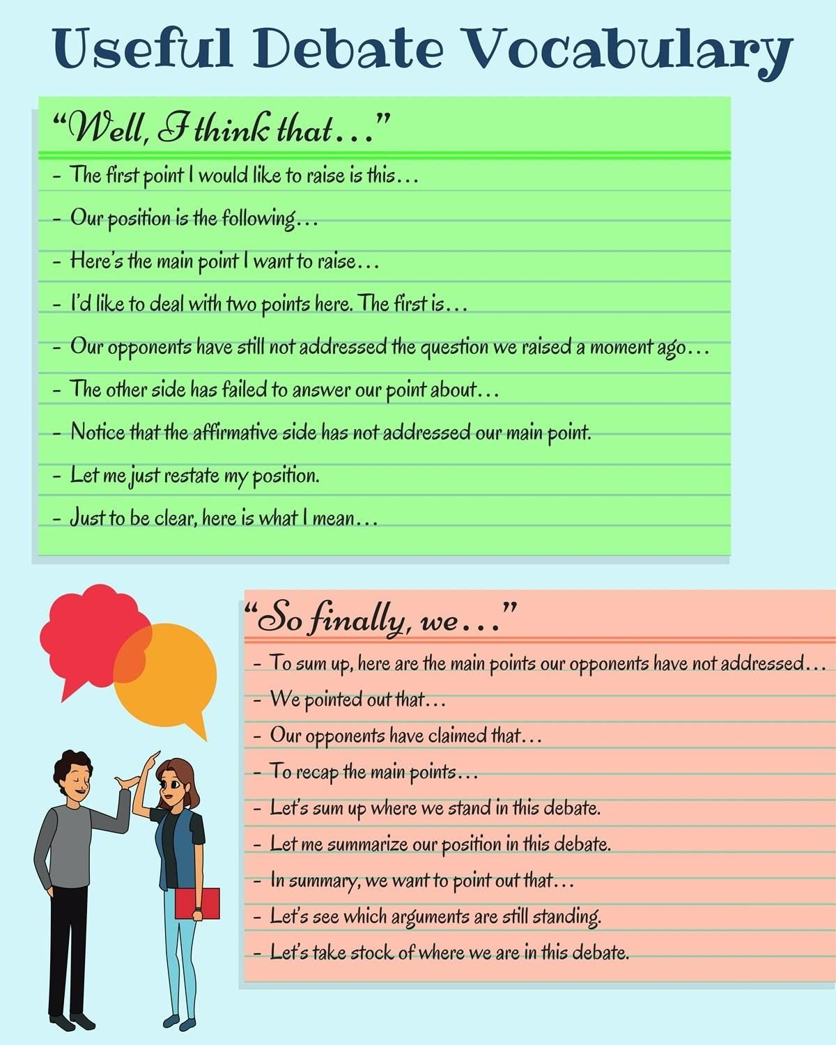 Useful English Expressions for Debate and Group Discussion
