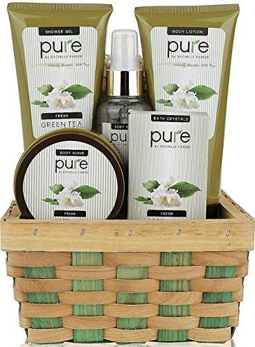 Enjoy exclusive for Pure! Herbal Collection Spa Basket - #1 Birthday Gift Basket  Women! Keeps Giving! Touchable Skin, Cleansed & Hydrated  Green Tea Spa Gift Basket. Best Bubble Bath Gift Basket! online - Herearetopshopping  #basket #Bath #Birthday #Bubble #Cleansed #Collection #Enjoy #Exclusive #gift #giving #Green #herbal #Herearetopshopping #Hydrated #Online #Pure #skin #Spa #Tea #Touchable #women