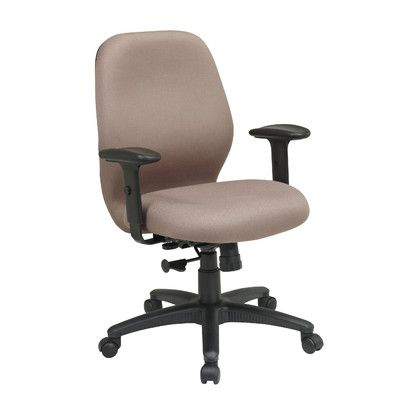 Office Star Work Smart Mid-Back Desk Chair Upholstery: Icon - Taupe
