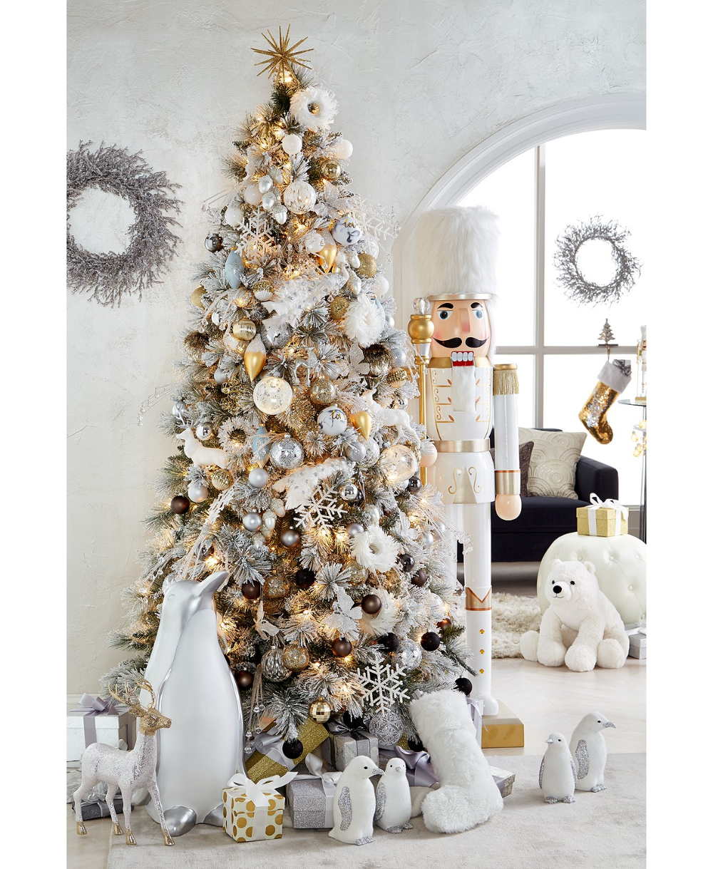 Holiday Lane Shine Bright Collection Created For Macy S That Nutcracker In 2020 White Christmas Ornaments Glam Christmas Tree Elegant Christmas Trees