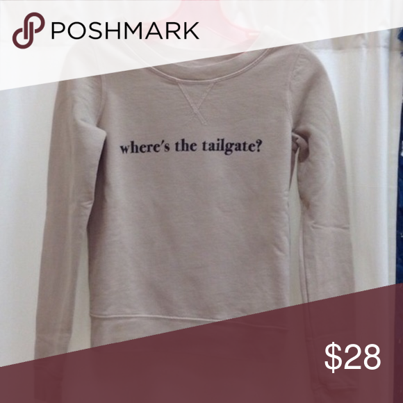 Where's the tailgate football sweatshirt xs Worn once, brand is southward, similar to wildfox chaser beach riot. Size xs - perfect for a super bowl party! Wildfox Sweaters