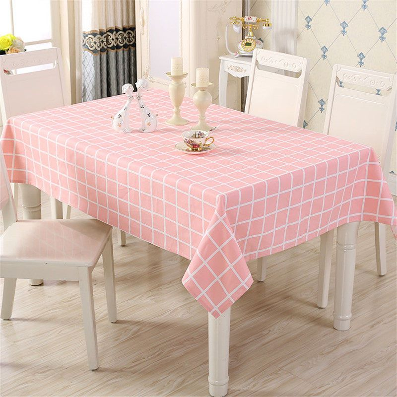 Pink Plaid Cotton Table Cloth Rectangle Tischdecke Table Cover Waterproof Round Tablecloth Cartoon Table Cloth For Dining Table Cloth Table Covers Table Cloth