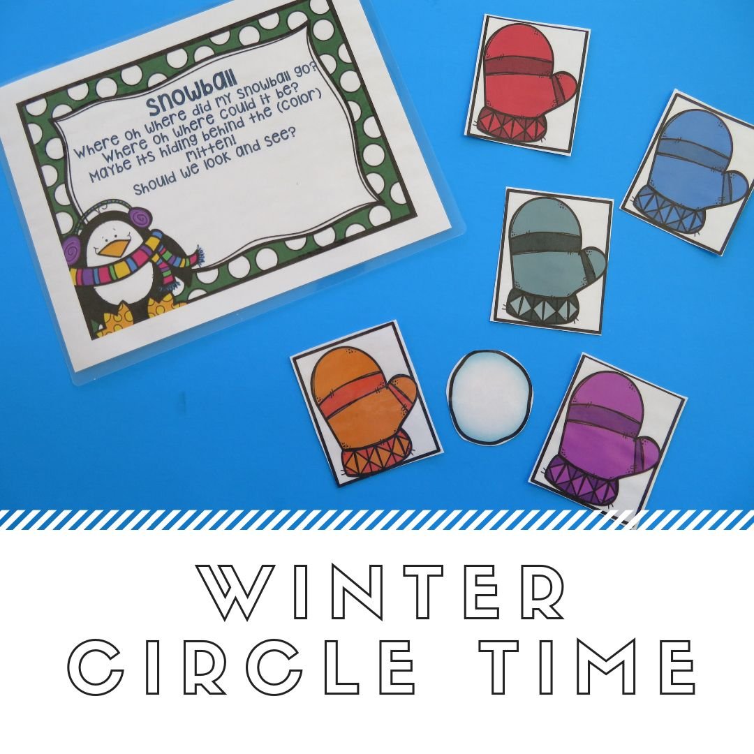 January Preschool Circle Time Winter Theme