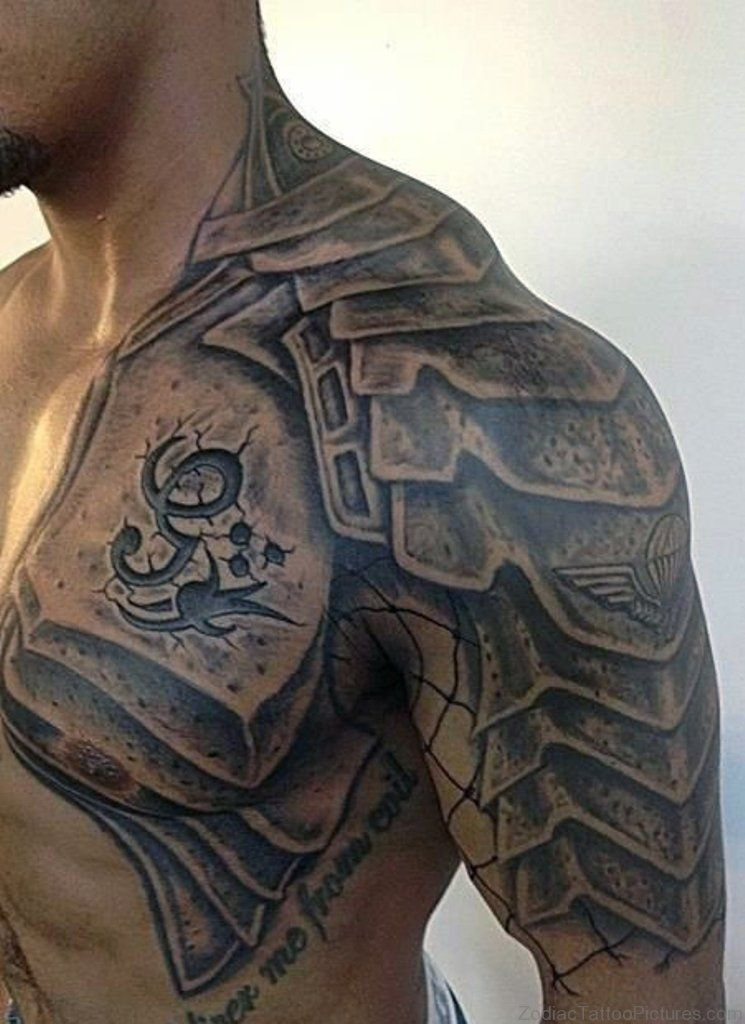 Armour Tattoo On Chest Shoulder Armor Tattoo Armor Tattoo Armour Tattoo