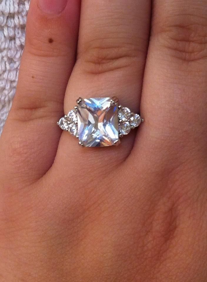 Beautiful Rectangle Diamond looking ring! Appraised for