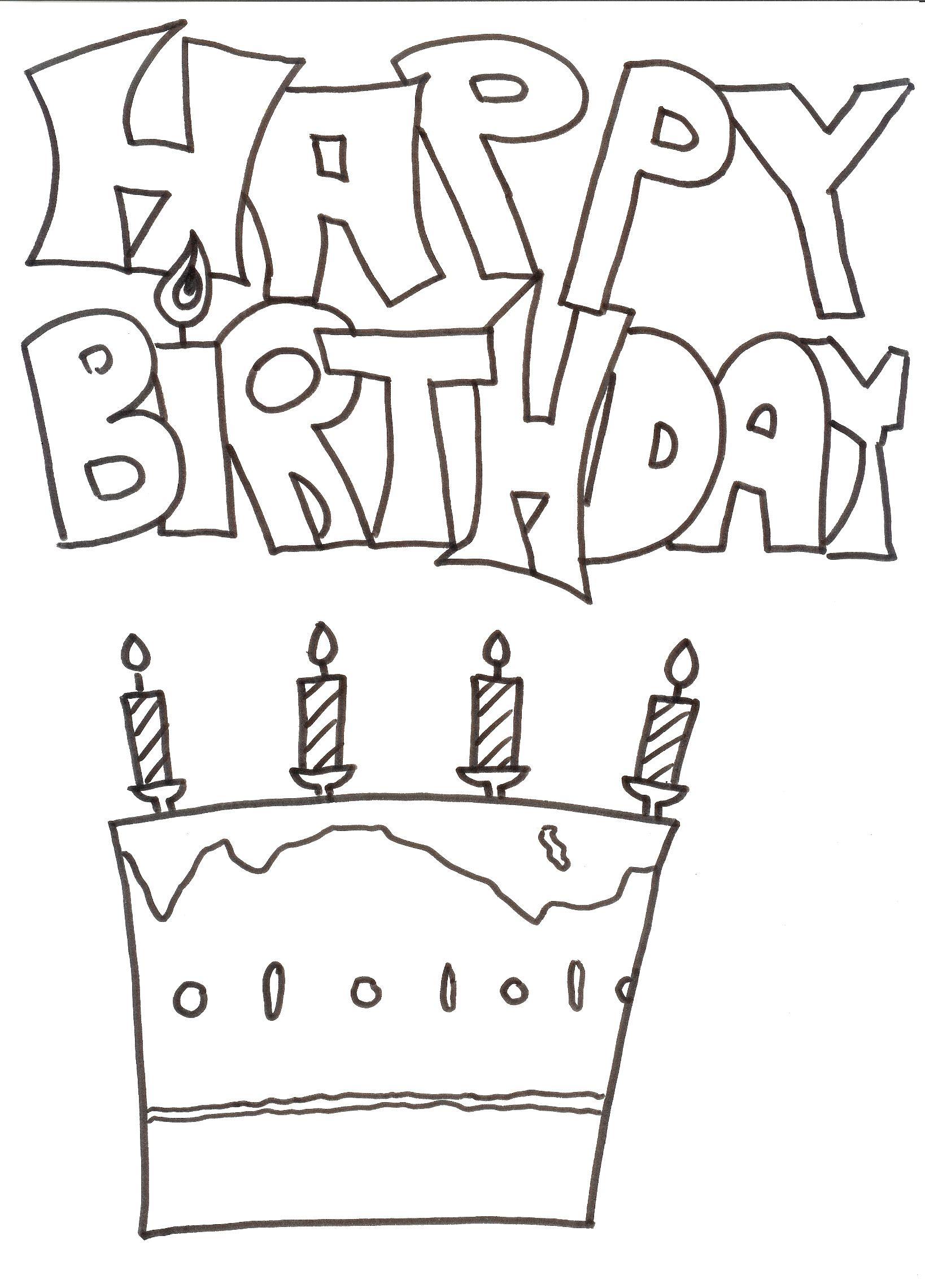 38 Bilder von Ausmalbilder Geburtstag zum Ausmalen und Drucken für kinder Kostenlose Ausmalbilder und malvorlagen zum Drucken