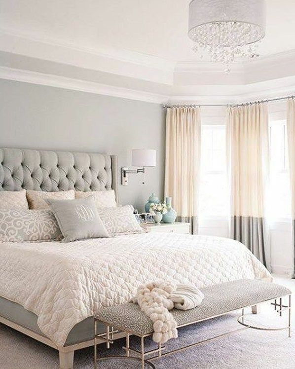 Warm color scheme for bedroom