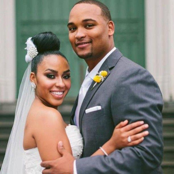 Shena & Kevin #gray #mustard #bun #gorgeous #oba #weddings