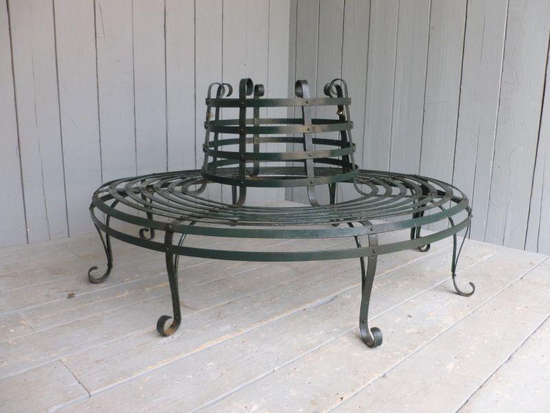 Antique Wrought Iron Round Garden Tree Seat ,tree seat,bench,seat,Antique