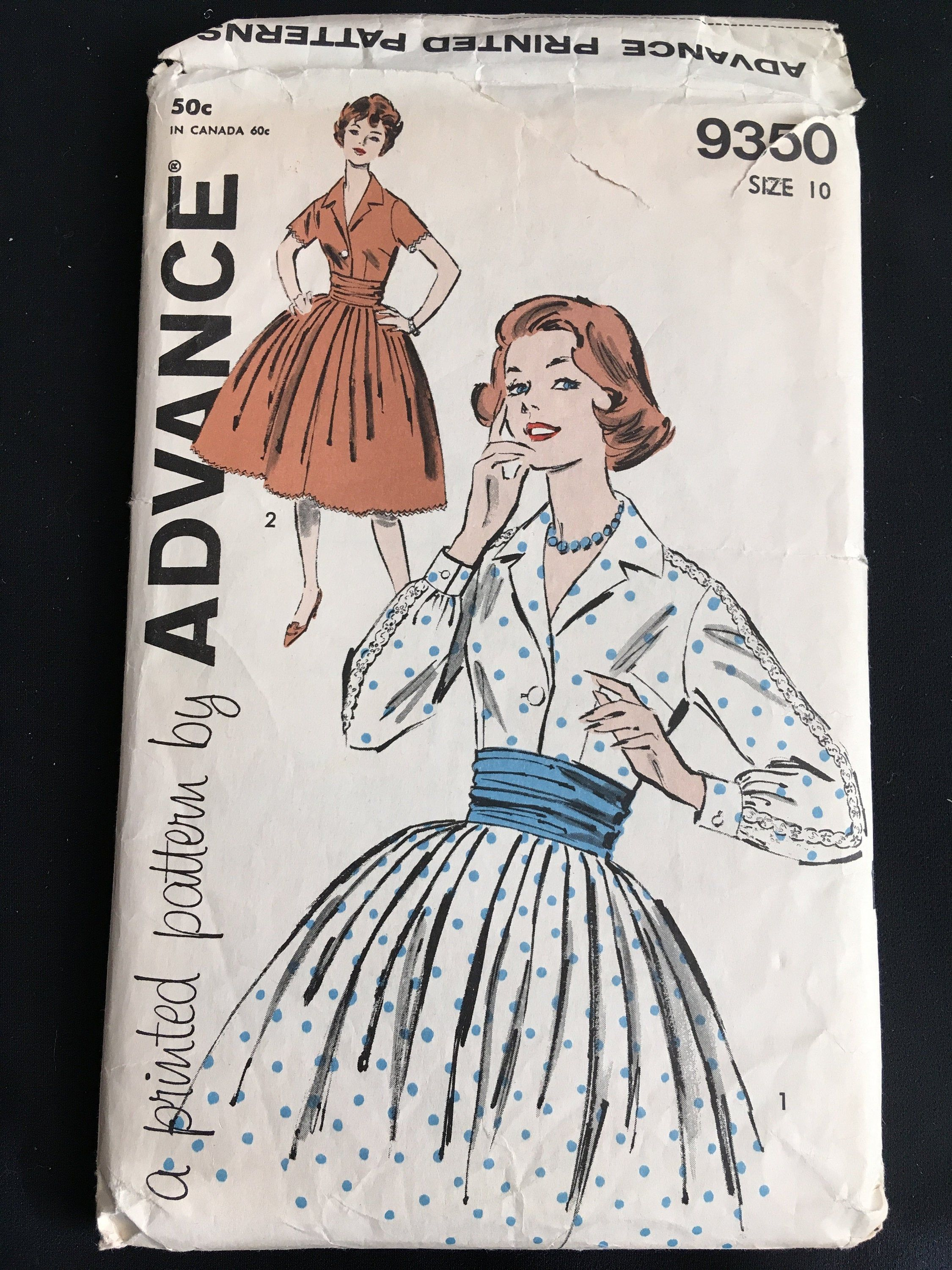 1940s Vintage Butterick Sewing Pattern 2554 WWII Girls