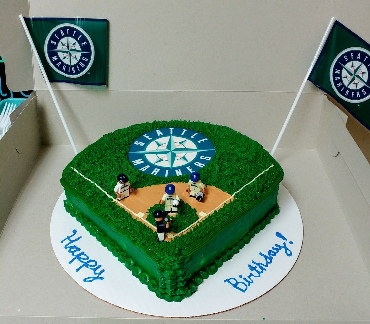 Seattle Mariners Baseball Birthday Cake