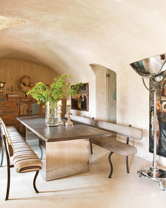 Indoor/ Outdoor Space... Vintage And Old Structure With Modern Interior # Diningroom