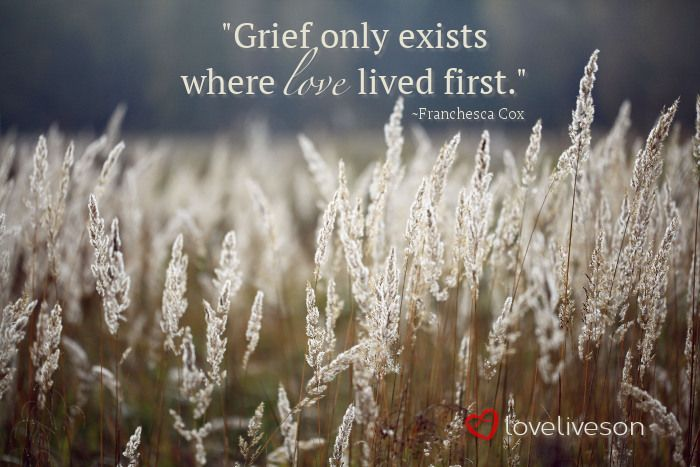 """Grief only exists where love lived first."" #loveliveson"