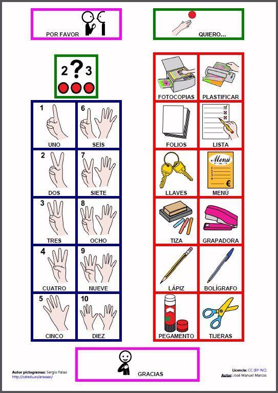 MATERIALES - Tablero para hacer recados.    Tablero de comunicación para hacer recados en el entorno escolar.    http://arasaac.org/materiales.php?id_material=78