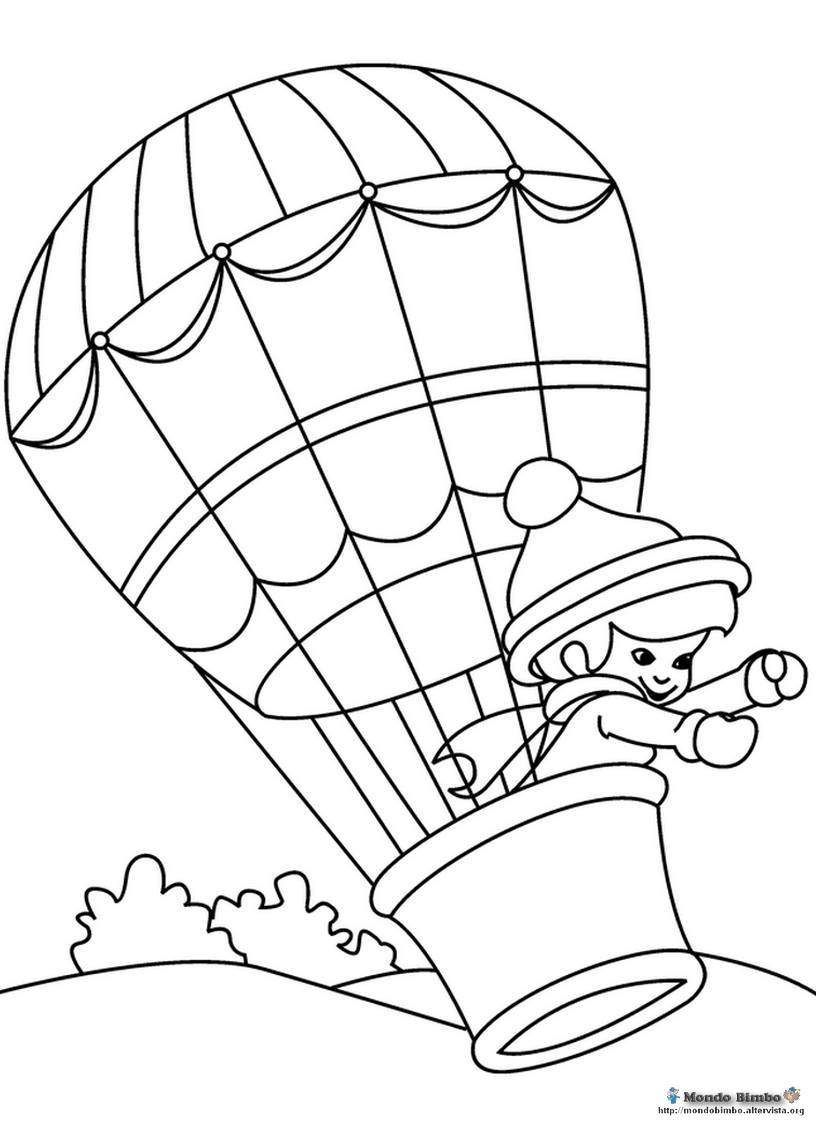 Hot Air Balloon Coloring Pages Useful preschool worksheets
