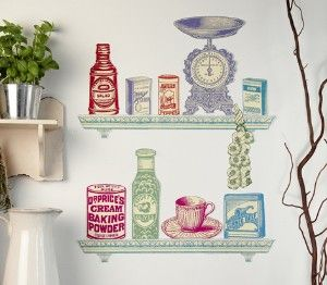 Pin By Laura Bednar Deacetis On Home Living Spaces Kitchen Wall Stickers Retro Home Decor Wall Stickers