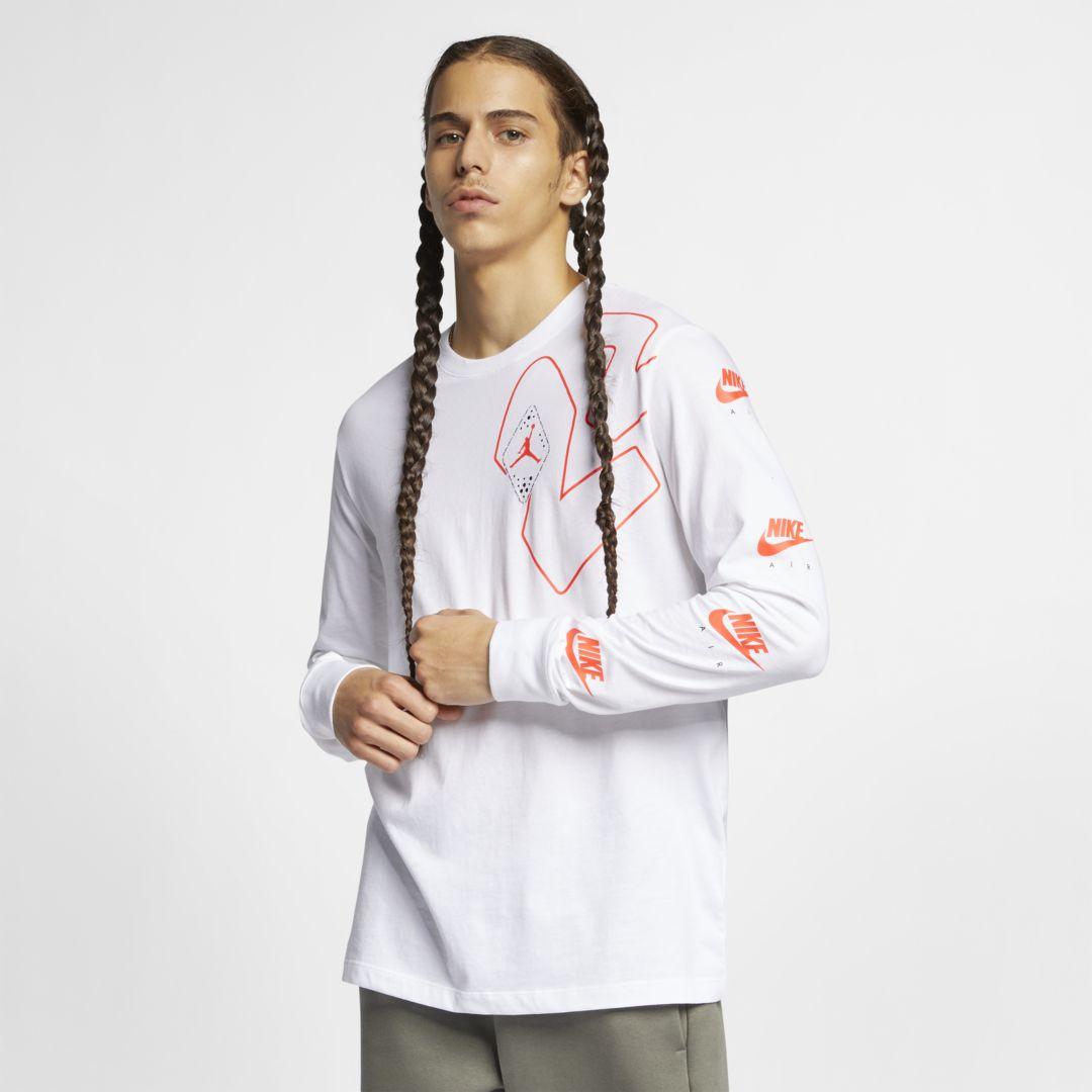 98c24e9ba7191c Jordan Legacy AJ 6 Mens Long-Sleeve T-Shirt Size S (White) in 2019 ...