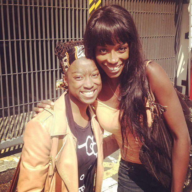 On the same day, (still in search of Usher's whereabouts) I bumped into Lorraine Pascale. My absolute inspiration when it comes to baking! She is so lovely.