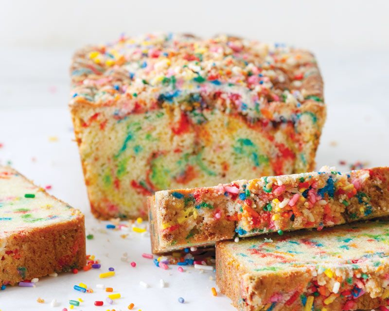 Strange Rainbow Sprinkle Bread With Birthday Crumb Topping Recipe With Funny Birthday Cards Online Alyptdamsfinfo
