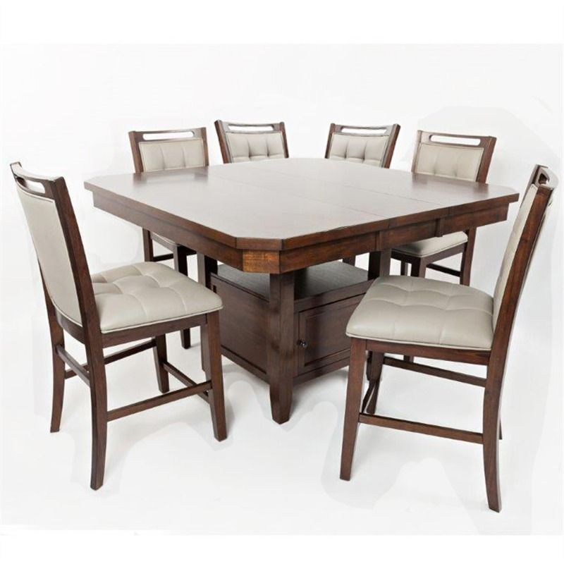 Manchester 7 Piece Counter Height Upholstered Dining Set Dining
