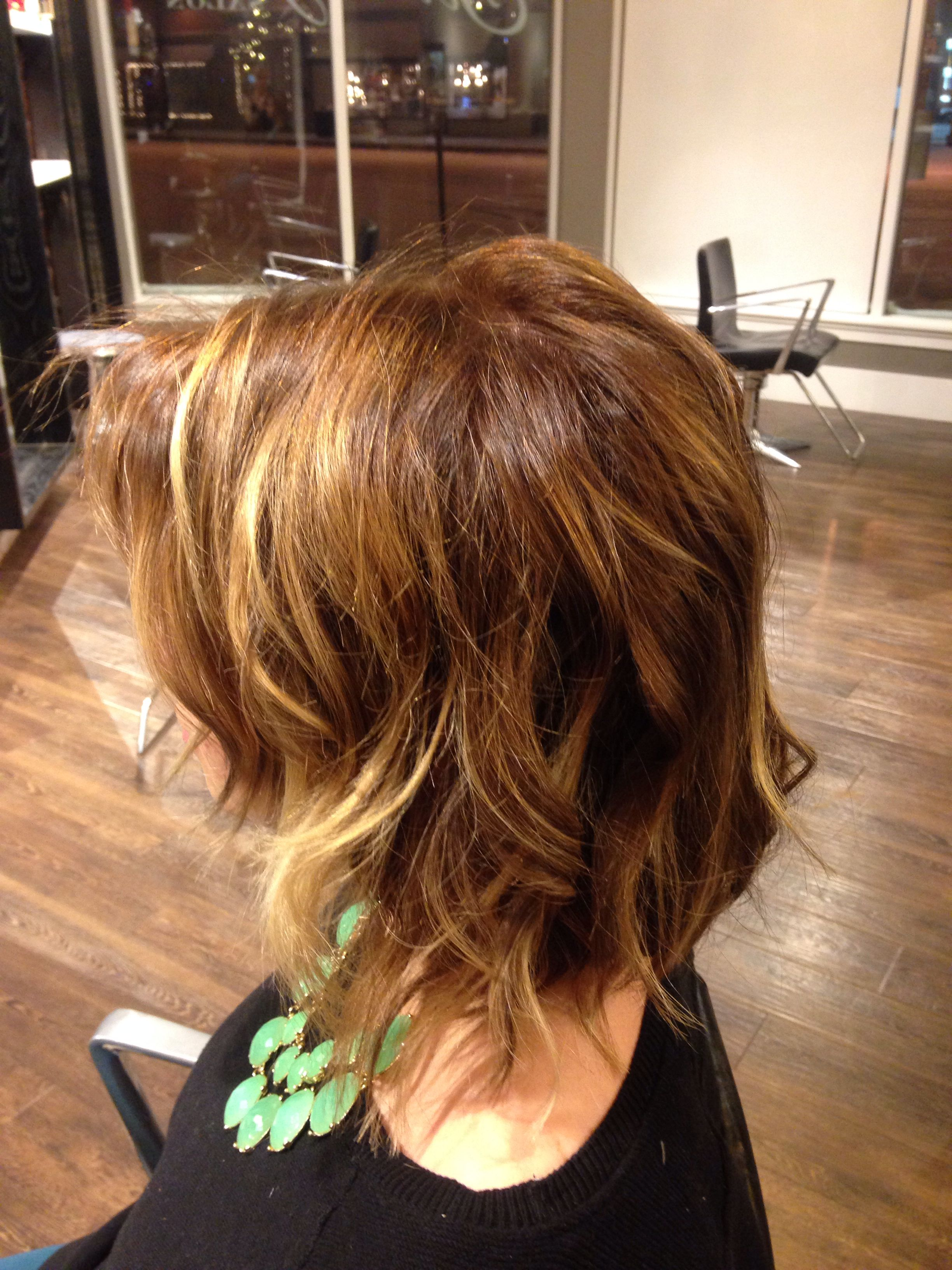 Ombré short hair hand painted color by hannah hopkins studiobesalon