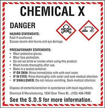 New Safety Label Format | Hazard Communication Standard