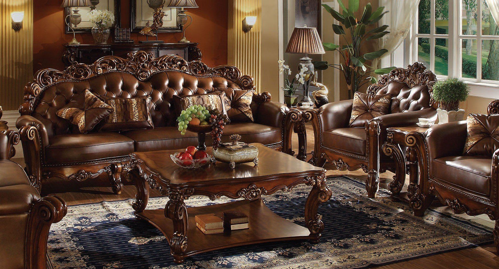 Best Vendome Living Room Set W Small Sofa Tuscan Living 400 x 300