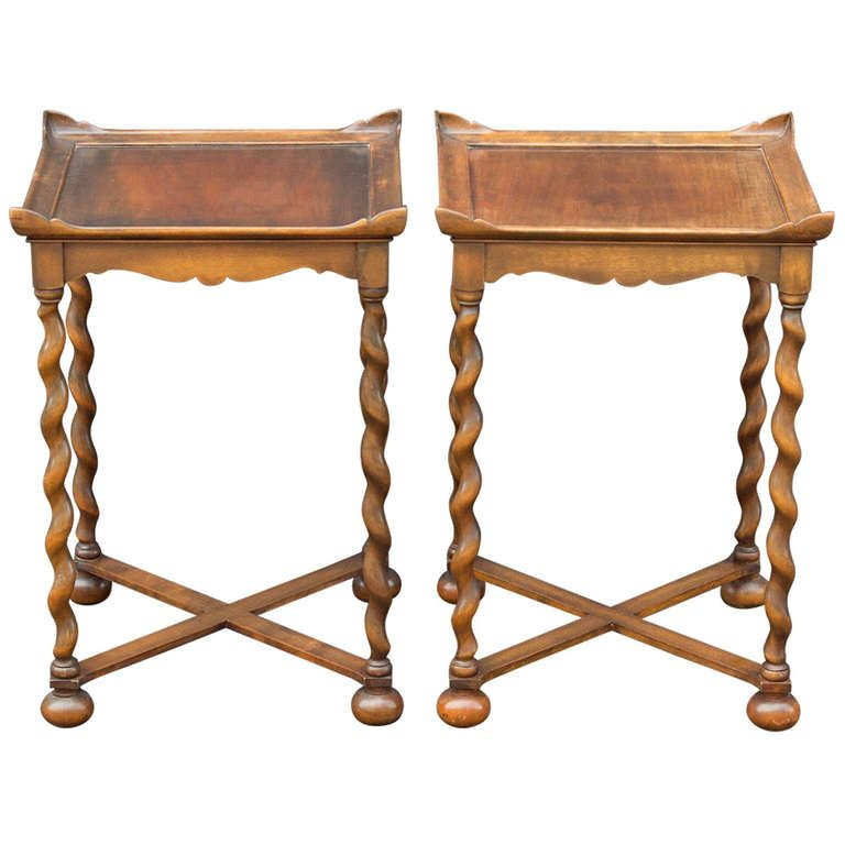 pair of barley twist end tables in 2019 tables table end tables end tables for sale. Black Bedroom Furniture Sets. Home Design Ideas
