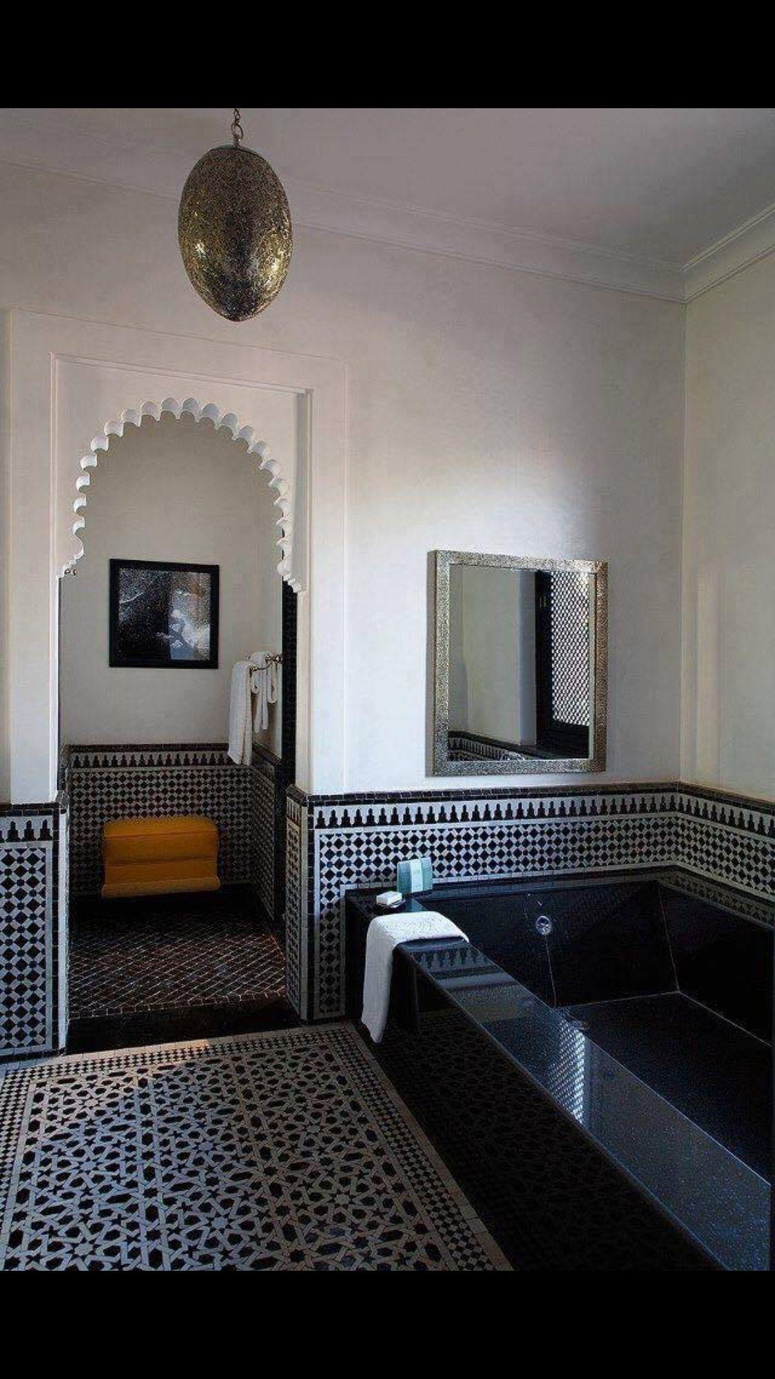 Zellige bath | plans maisons | Salle de bain marocaine ...