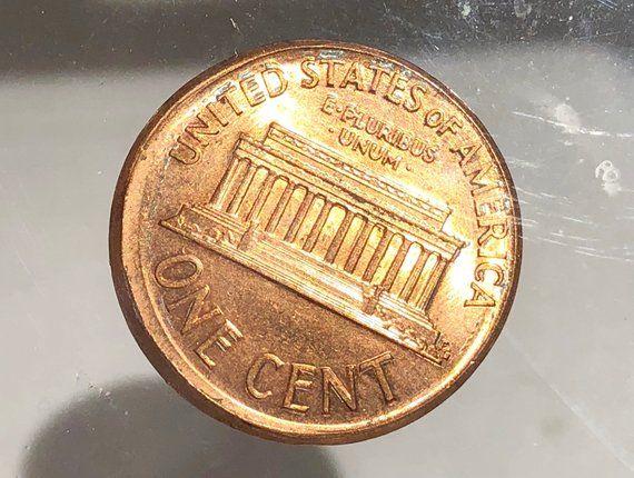 Rare - Error Coin Off Center 1989 US Lincoln Memorial Cent Penny