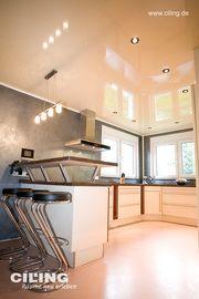 Moderne Küche Mit Tresen Und Barhockern. Innenraumgestaltung Mit  Kreativtechniken Vom Jürgen Koch Malerbetrieb In Oberhausen