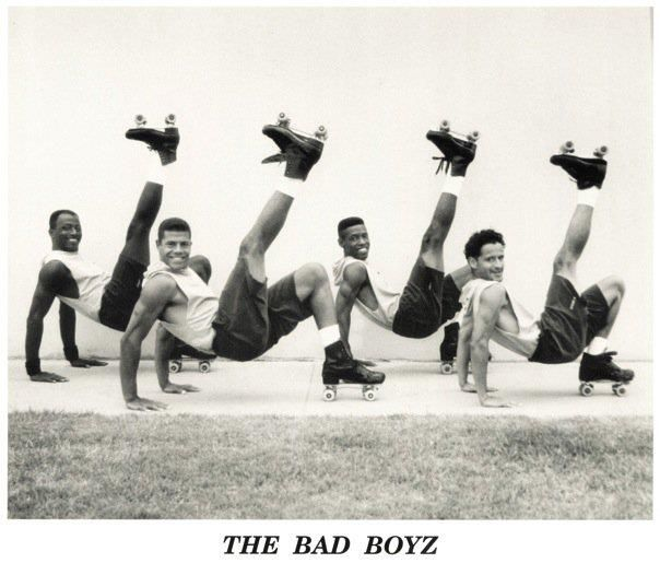 The Bad Boyz 1996 Jeffrey Young Jimmy Rich Dee Upshaw Carlos Avendano Jam Skate All The Way D Jam Skating Roller Skates Vintage Roller Skaters