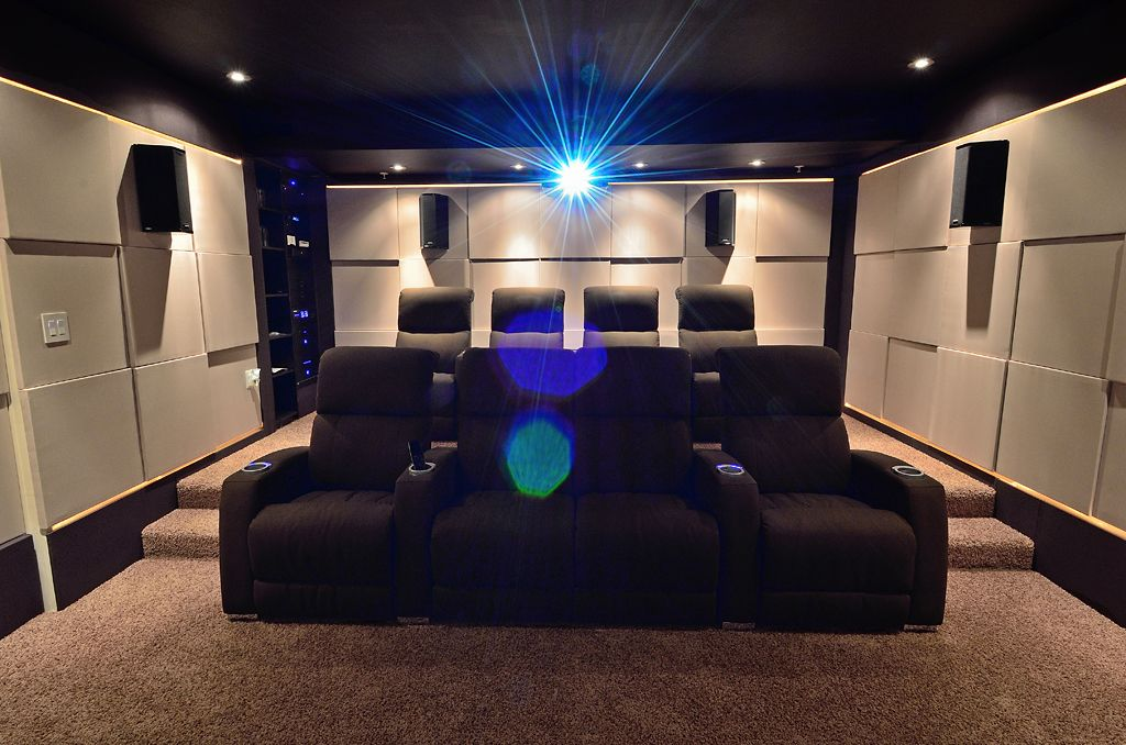 electronic house magazine did an article featuring his custom theater room hifi seating with power recliner and led light package we provided