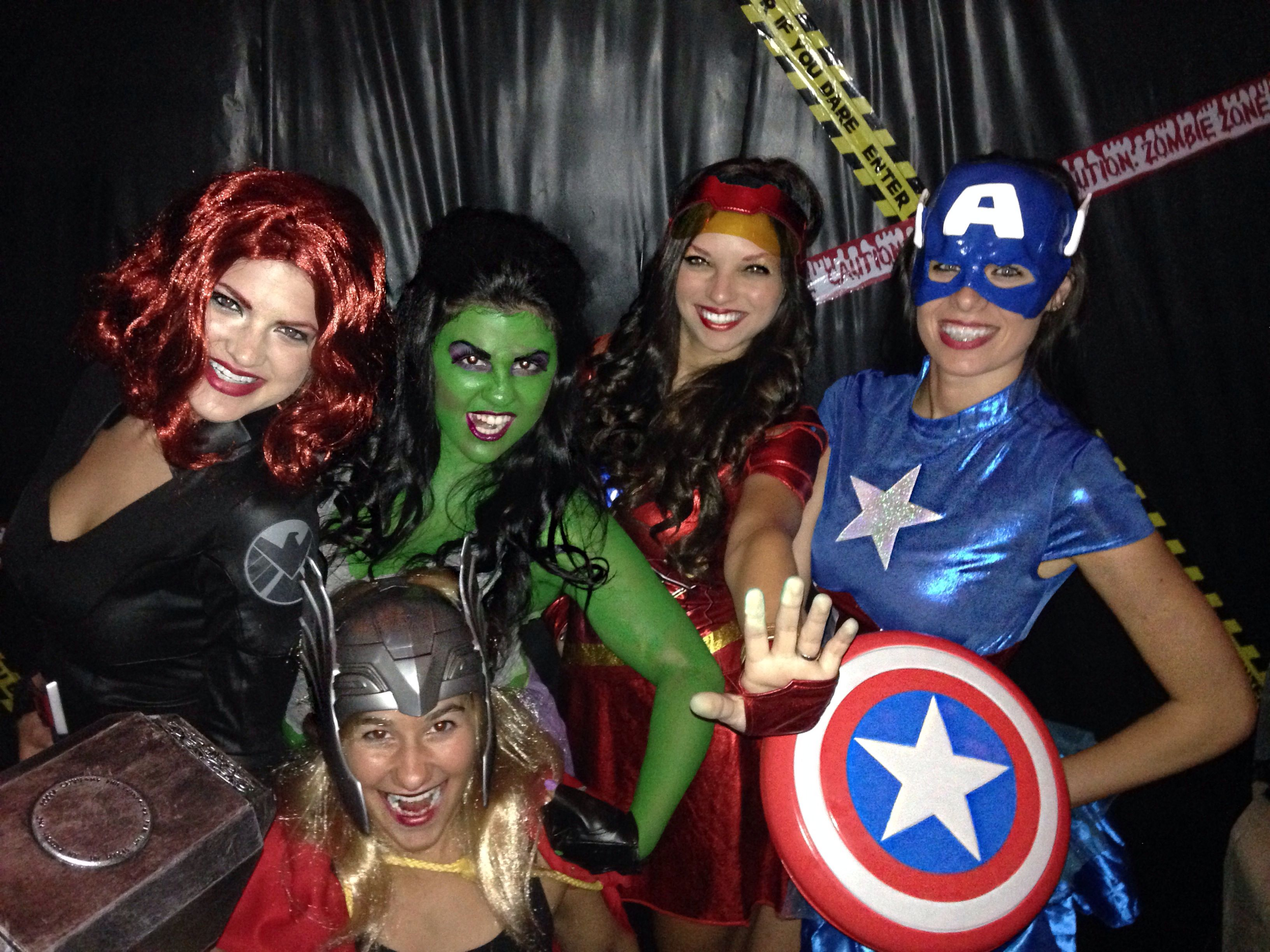 Avengers Group Costume Girl Avengers Bestfriends Team Halloween Costumes Diy Avengers Costume Disney Group Costumes