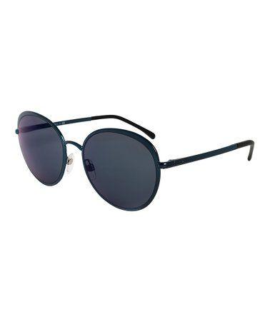 8c371211cc42 Love this Dark Blue Spring Round Sunglasses on  zulily!  zulilyfinds ...