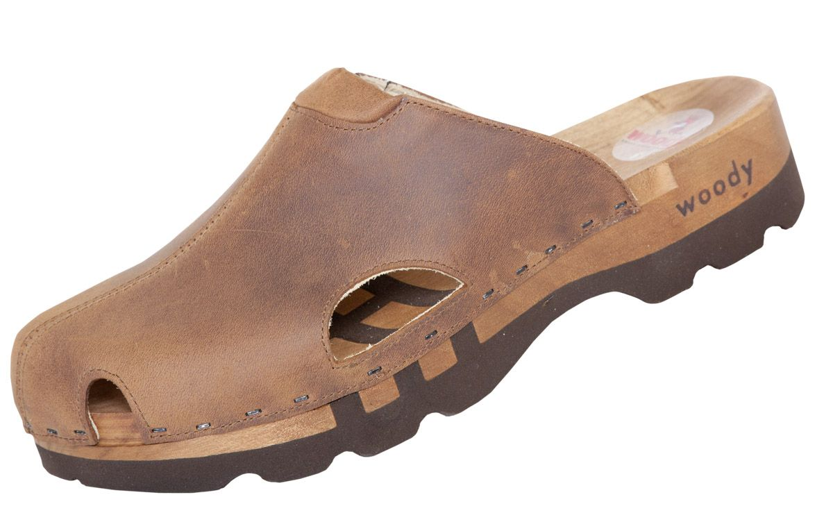 239dd516fd44 Men's Lissabon Wooden Sport Clog - Woody (Crazy Horse Leather) Men's ...