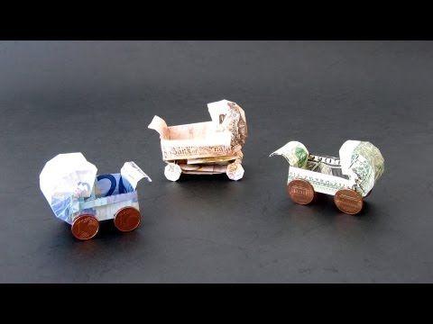 origami anleitung einen kinderwagen aus geldscheinen zur geburt falten geschenke pinterest. Black Bedroom Furniture Sets. Home Design Ideas