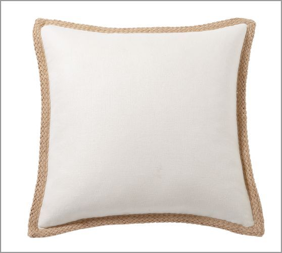 Pottery Barn Pillow Inserts Amazing Jute Braid Pillow Cover  Pottery Barn  White On White Ish Design Inspiration