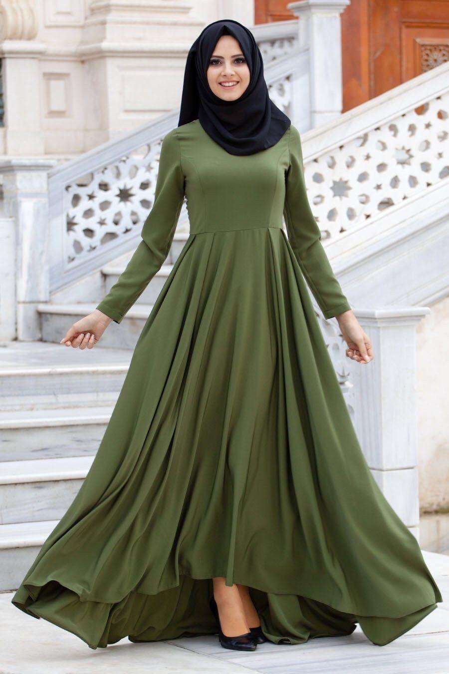 Olive green formal ball gown الحجاب اناقة pinterest ball