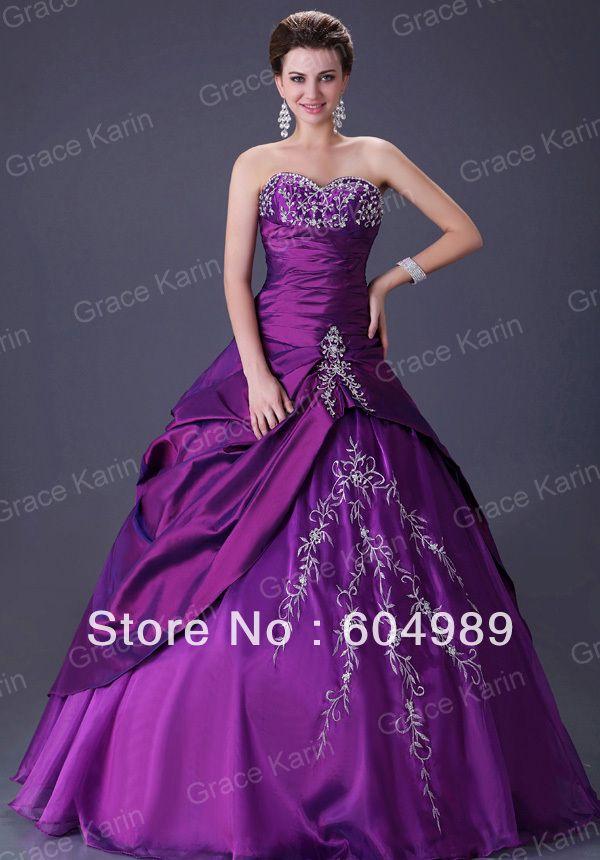 purple wedding gown - Google Search | PURPLE, ONE OF MY FAV\'S - WOW ...
